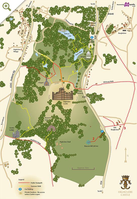 Jardins do Castelo de Highclere