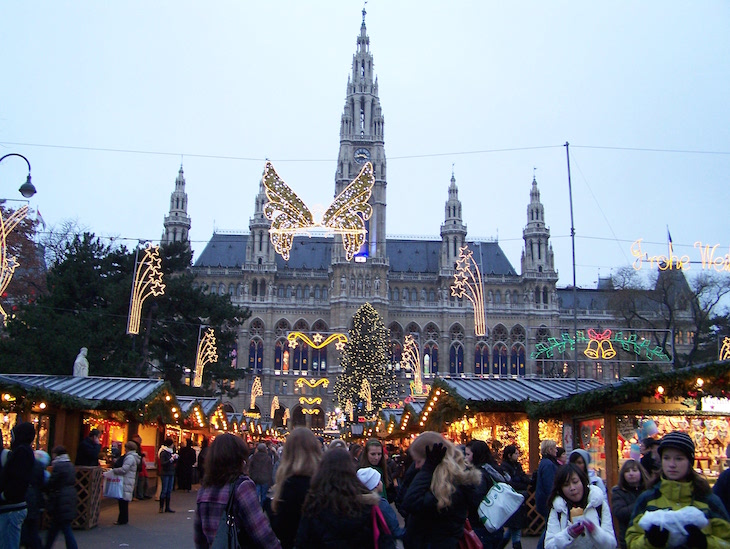 Mercado de Natal Viena - frente à Câmara Municipal
