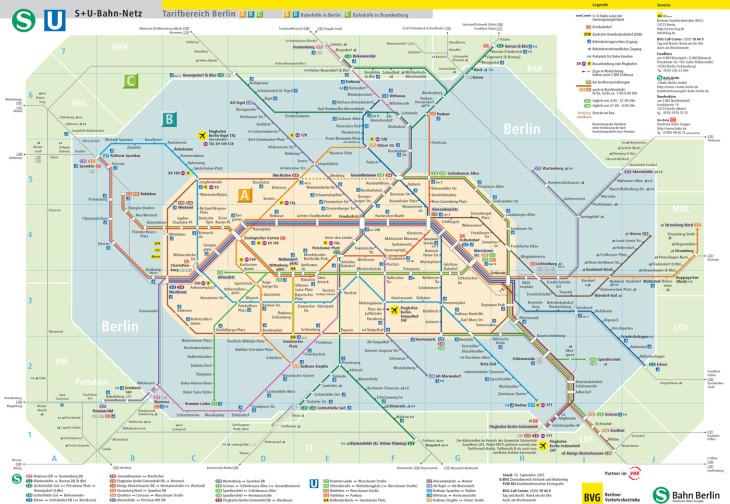 Mapa do Metro de Berlim