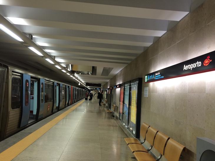 Metro de Lisboa - Cais de Embarque da Estação do Aeroporto