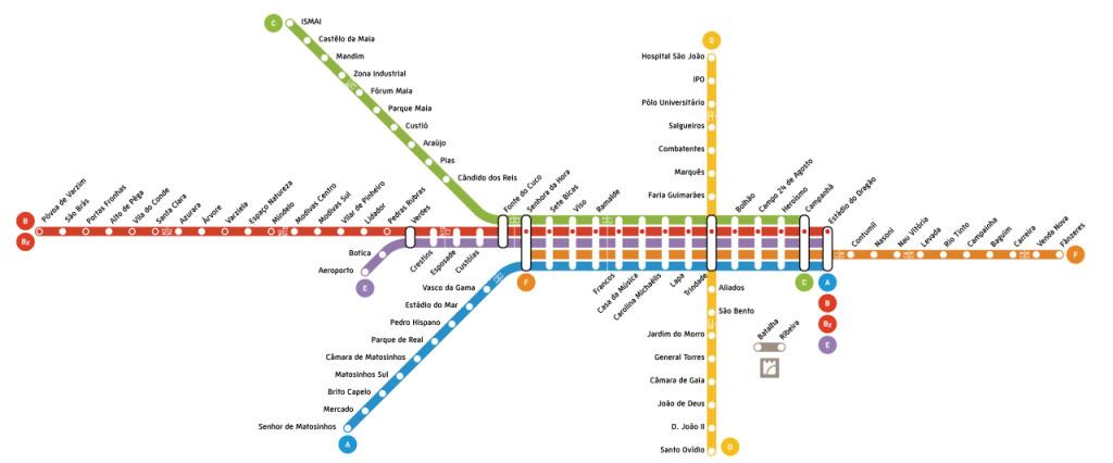 mapa do metro porto portugal Metro da cidade do Porto, Portugal | Viaje Comigo mapa do metro porto portugal