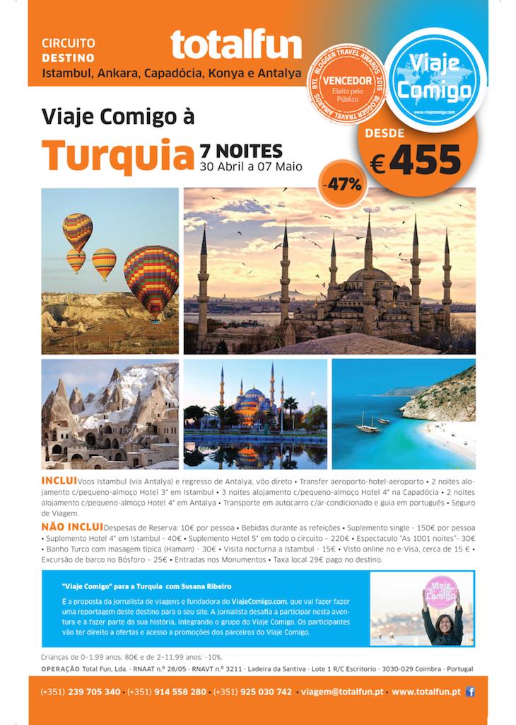 Folheto Turquia: 455 euros