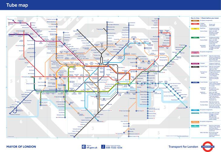 Mapa do Metro de Londres