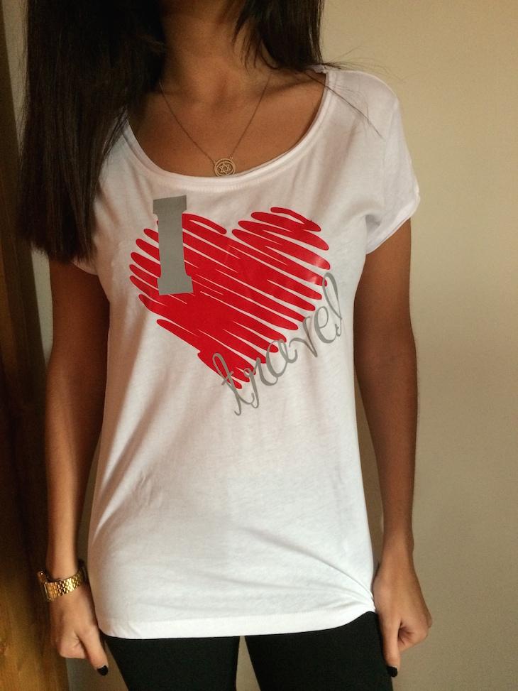 T-shirt I Love Travel Viaje Comigo (brevemente disponível)