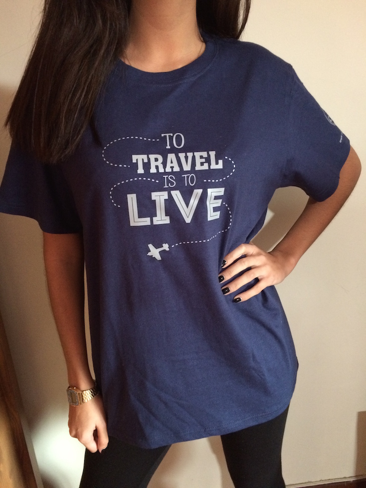 Tshirt azul Viaje Comigo - brevemente disponível
