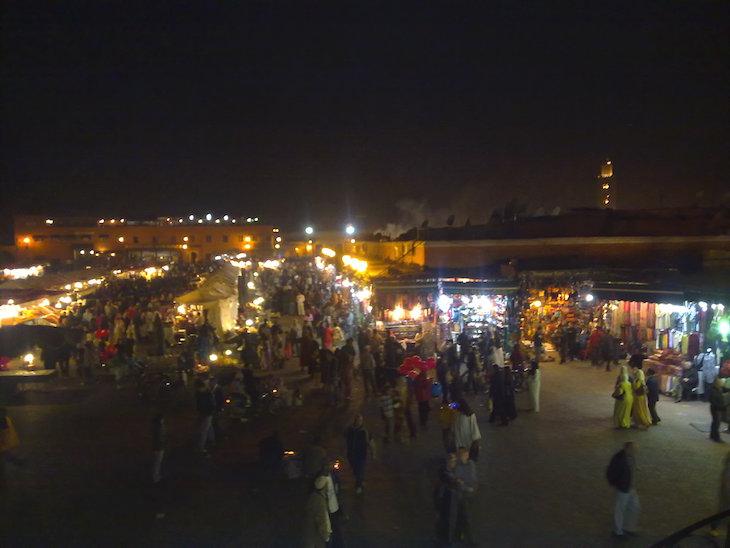 Praça Djemaa El Fna à noite, Marraquexe