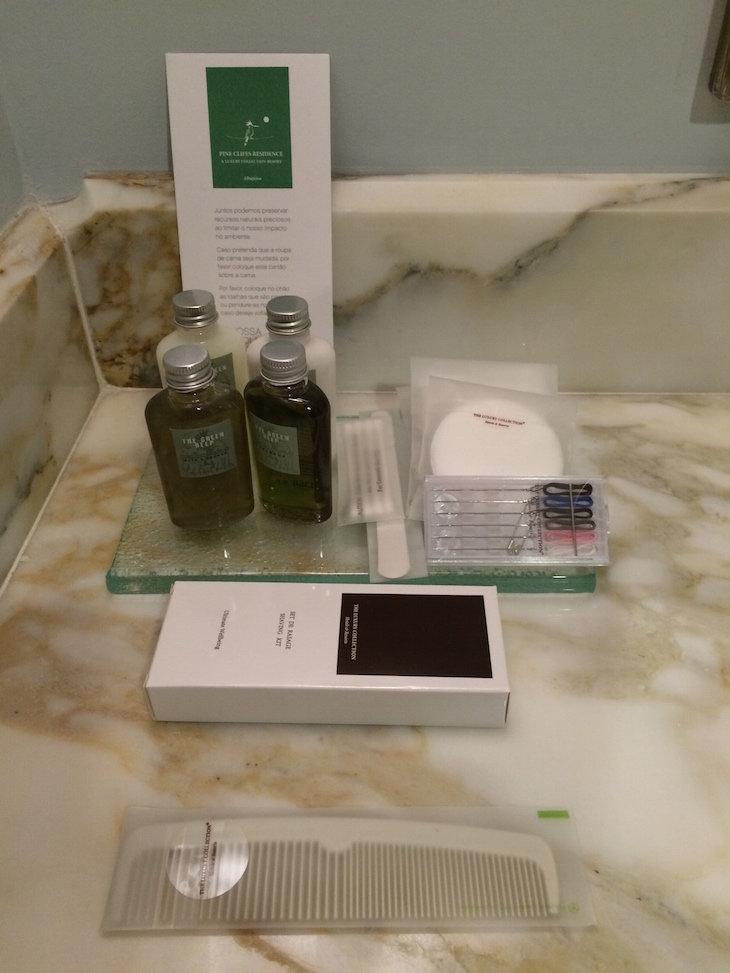 Produtos higiene no Pine Cliffs Resort, Sheraton Algarve