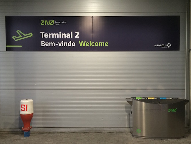 Terminal 2 no Aeroporto de Lisboa