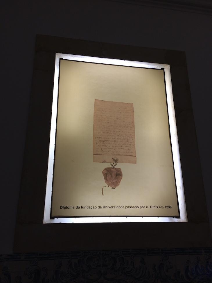 Diploma da fundação da Universidade de Coimbra