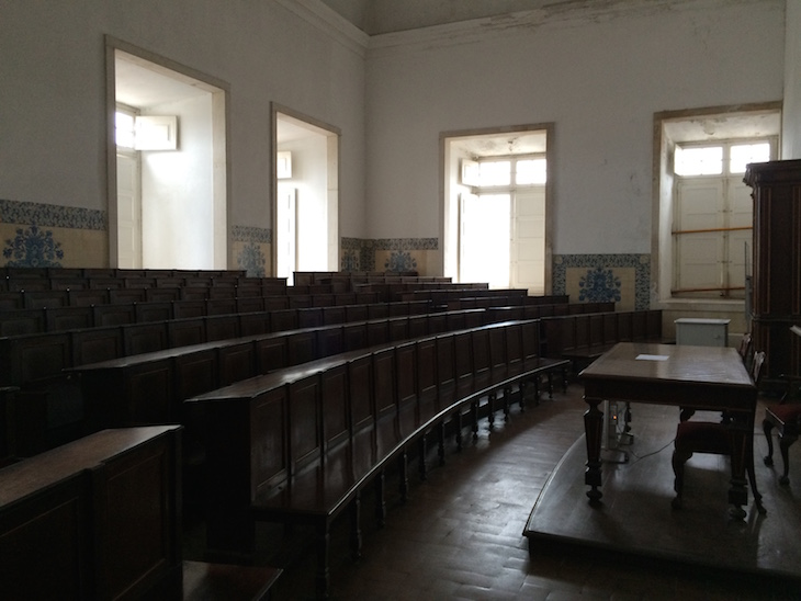 Sala de aula na Universidade de Coimbra