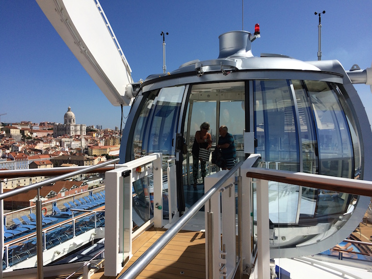 North Star com vista para Lisboa no Anthem of the Seas ©Viaje Comigo