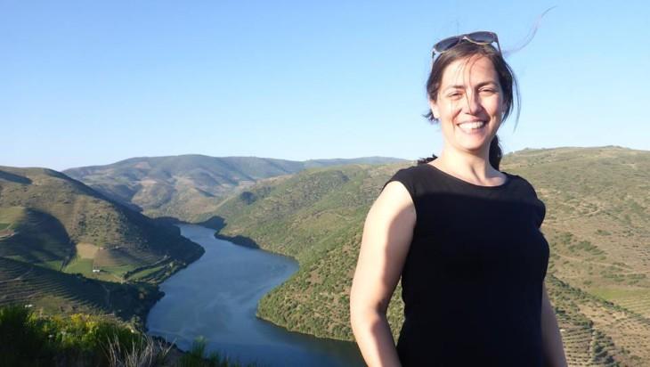 Susana em Foz Côa