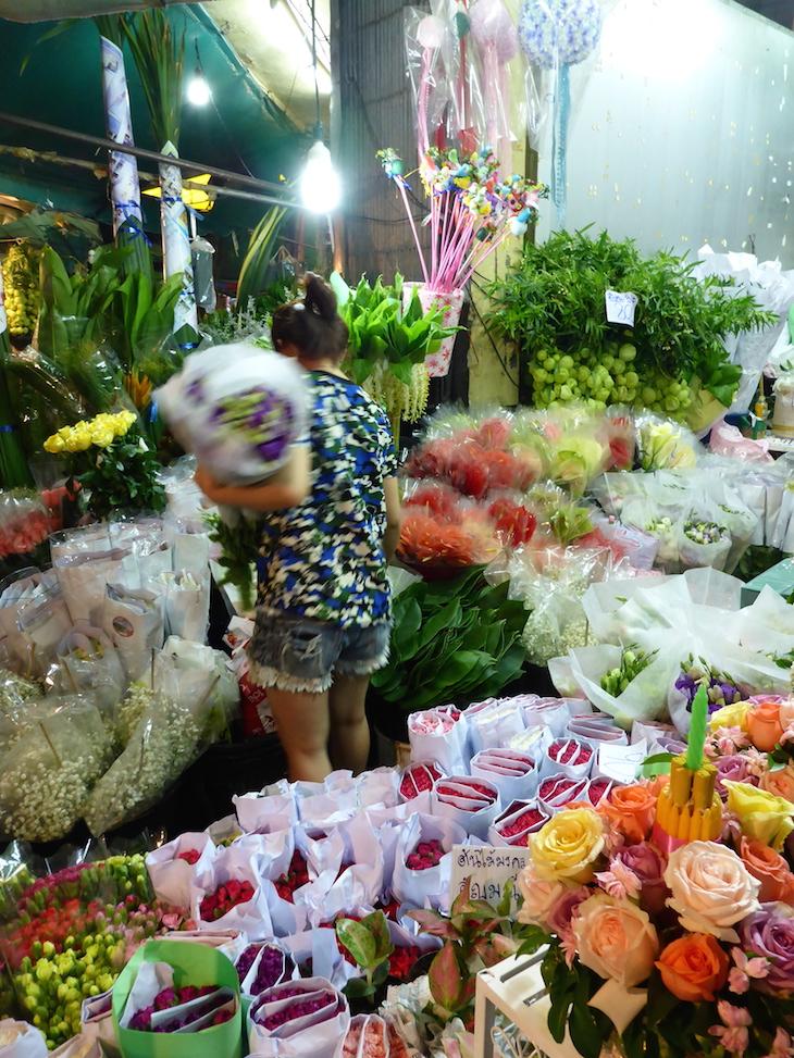 Compras no Mercado das Flores, Banguecoque © Viaje Comigo