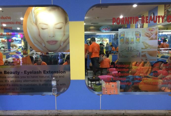 Massagens no MBK Center, Banguecoque, Tailândia © Viaje Comigo