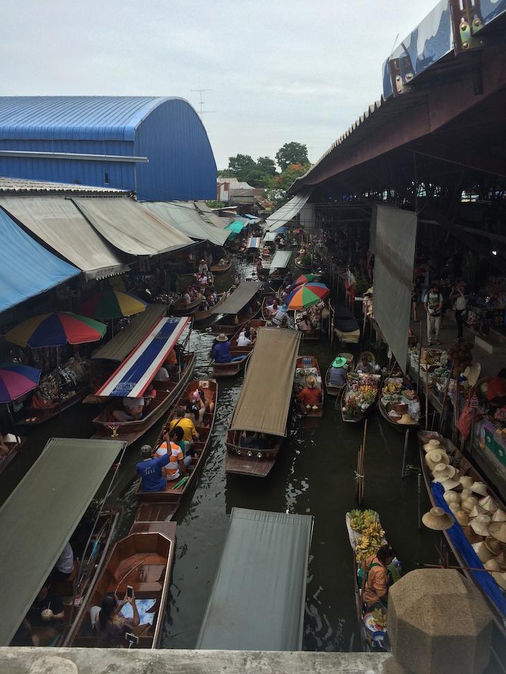 Mercado flutuante de Damnoen Saduak, Tailândia © Viaje Comigo