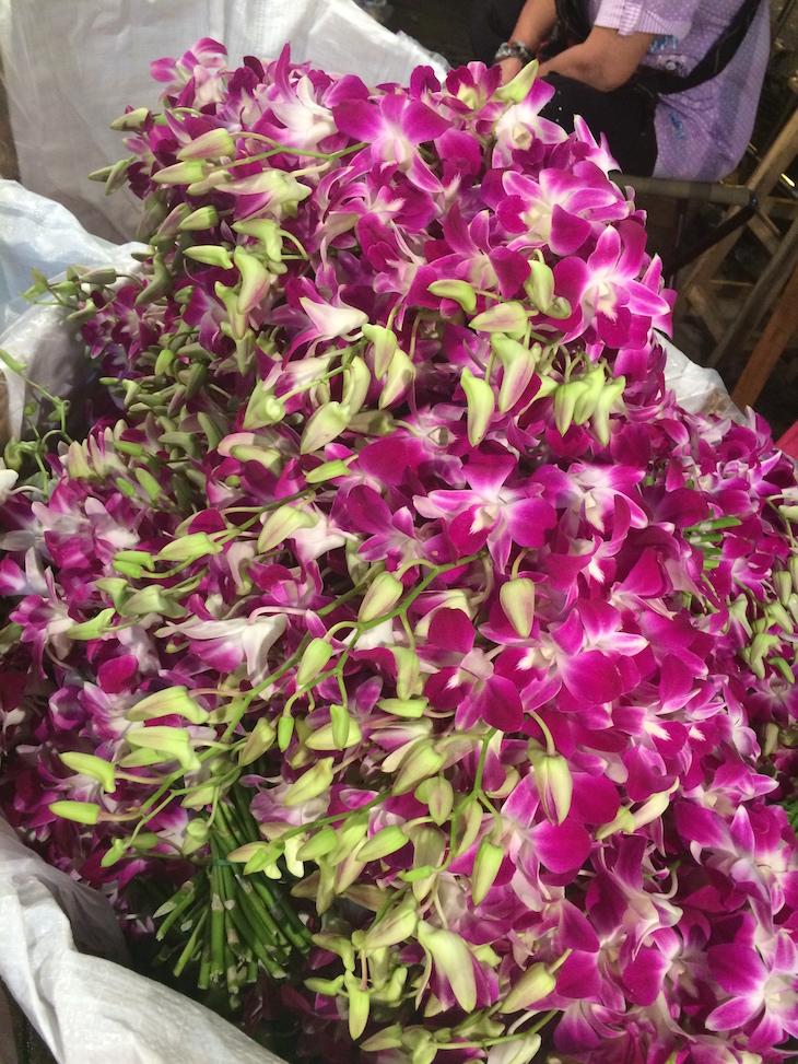 Orquídeas no Mercado das Flores, Banguecoque © Viaje Comigo