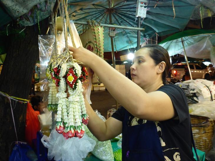 Para oferta em templos, Mercado das Flores, Banguecoque © Viaje Comigo