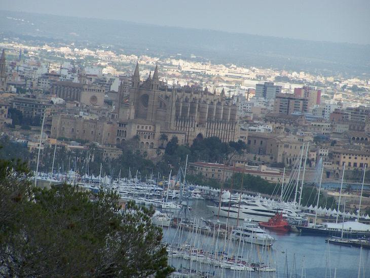 Vista do castelo de Palma de Maiorca