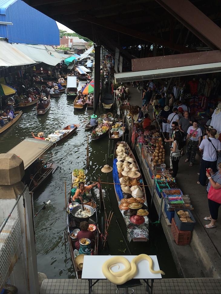 Cobras no Mercado flutuante de Damnoen Saduak © Viaje Comigo