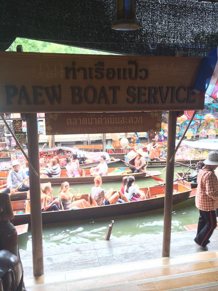Passeios de barco mais baratos no Mercado flutuante de Damnoen Saduak © Viaje Comigo