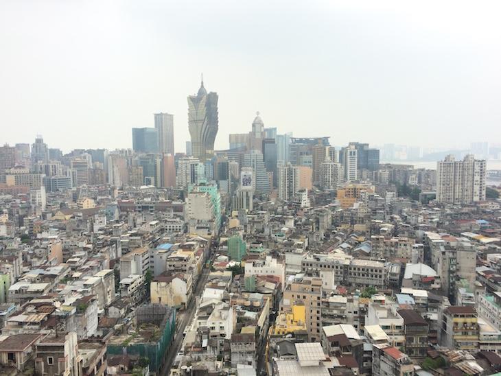 Vista do topo do Hotel Sofitel Ponte 16 Macau © Viaje Comigo
