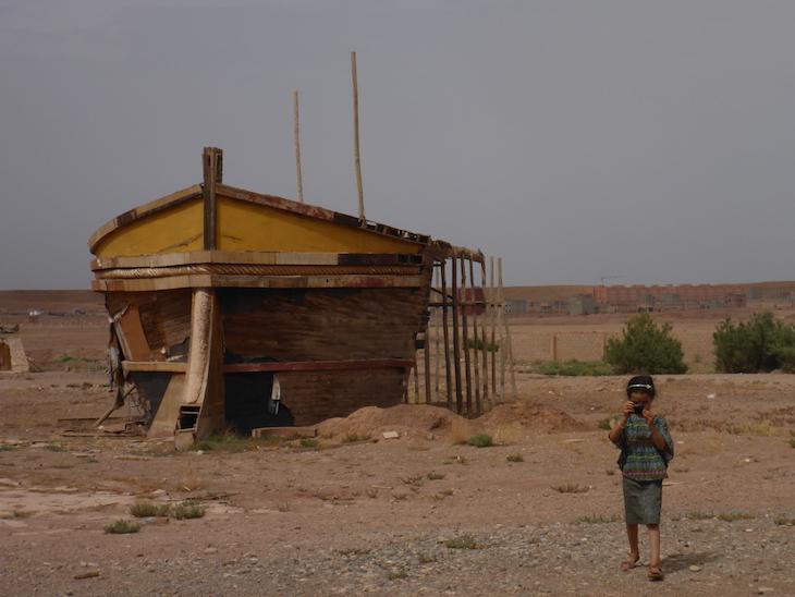 Barco (só a frente) nos Estúdios Atlas, Ouarzazate, Marrocos © Viaje Comigo