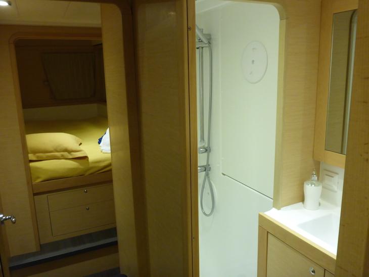 Casa de banho do catamarã © Viaje Comigo