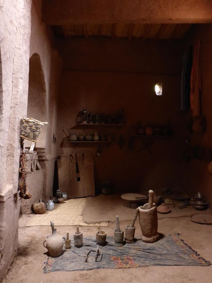 Dentro do museu Ksar Ait-Ben-Haddou © Viaje Comigo
