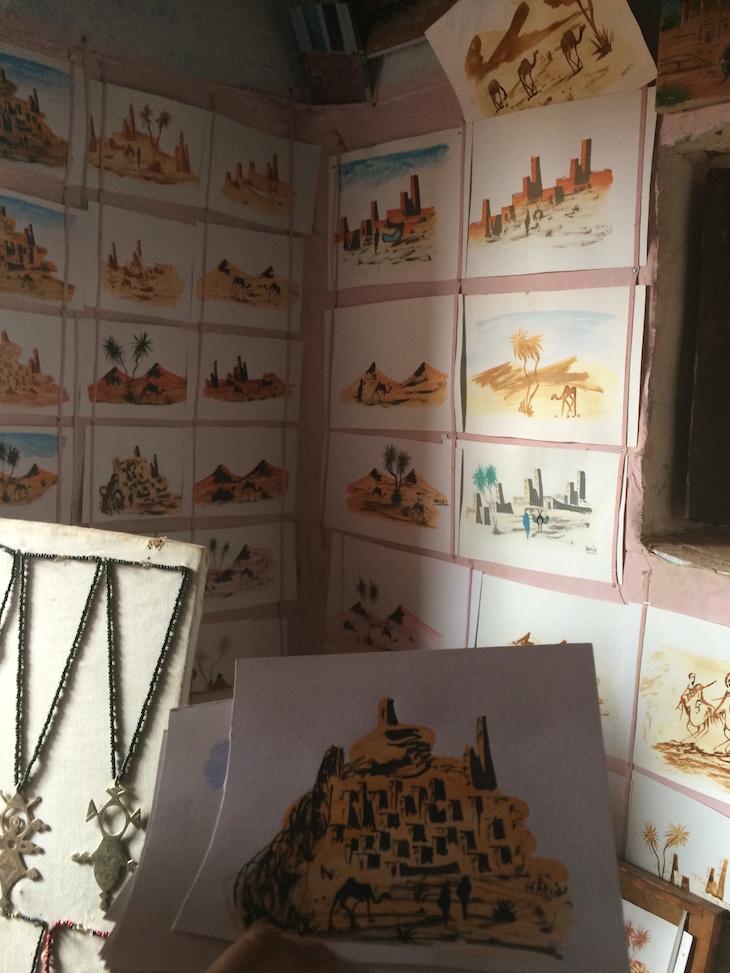 Pinturas de Hamid na Casa Berbere no Ksar Ait-Ben-Haddou © Viaje Comigo