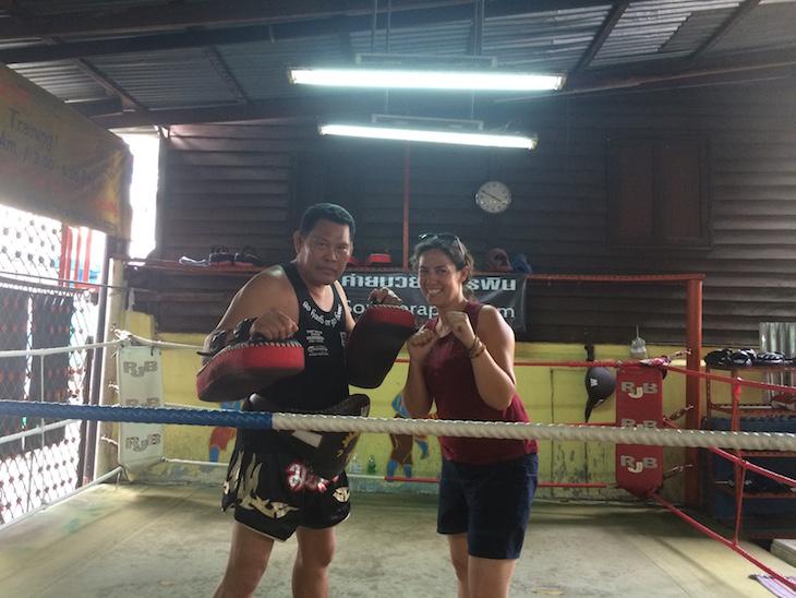 Susana Ribeiro do Viaje Comigo© na Escola Muay Thai