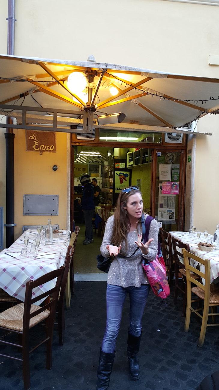 Anna, a guia do Trastevere Food Tour,Roma © Viaje Comigo