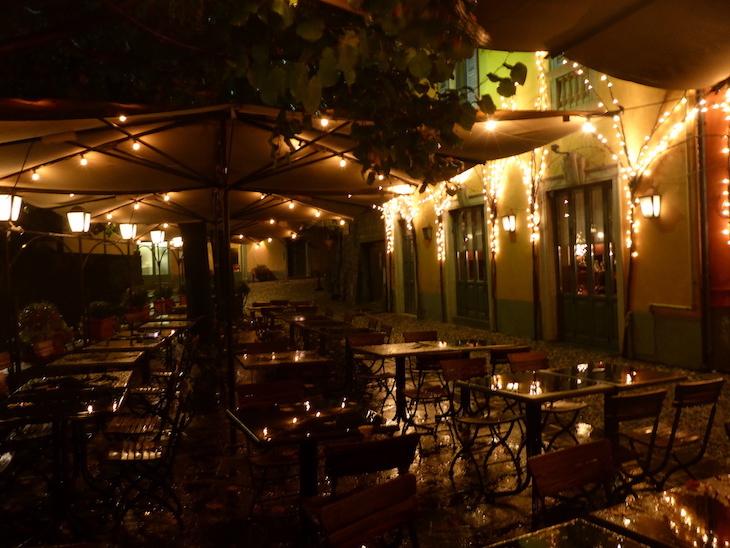 Esplanada do Restaurante Baretto, Bergamo © Viaje Comigo
