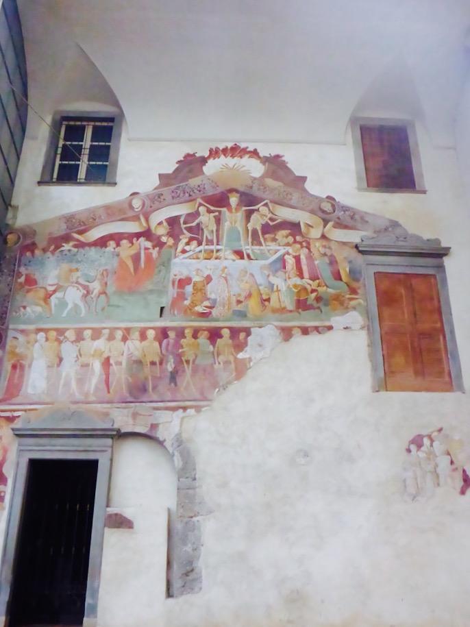 Bergamo , fresco de Giacomo Borlone de Buscais, em Clusone @ Viaje Comigo
