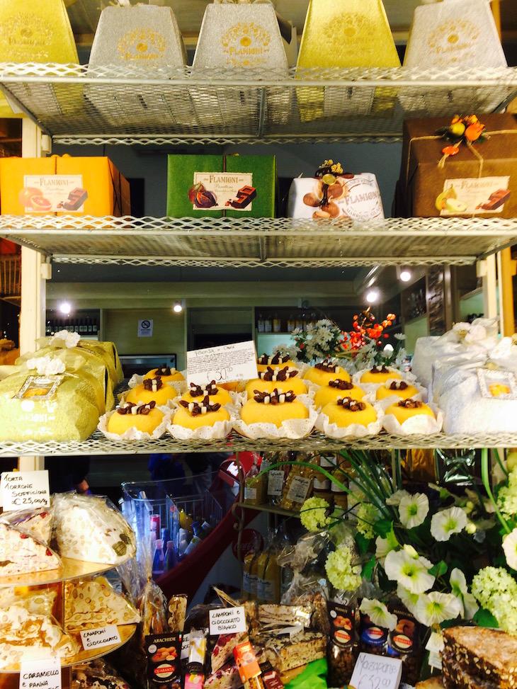 Montra de doces em Bergamo © Viaje Comigo