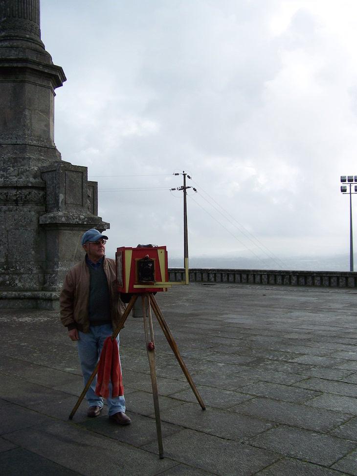 Fotógrafo à moda antiga no Santuário de Santa Luzia, Viana do Castelo © Viaje Comigo