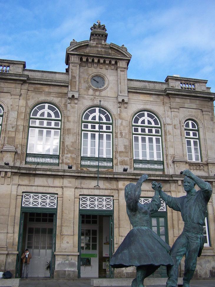 Frente da estação de comboios de Viana do Castelo © Viaje Comigo