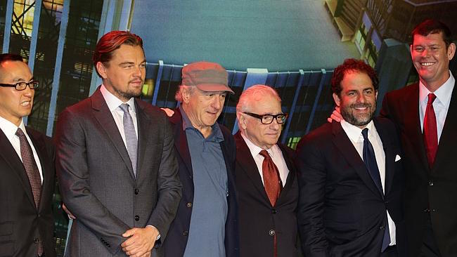 Leonardo DiCaprio, Robert De Niro, Martin Scorsese, Brett Ratnere e James Packer