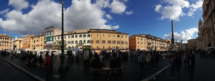 Panorâmica Piazza Navona, Roma © Viaje Comigo