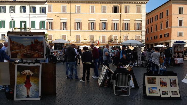 Pintores da Piazza Navona, Roma ©Viaje Comigo