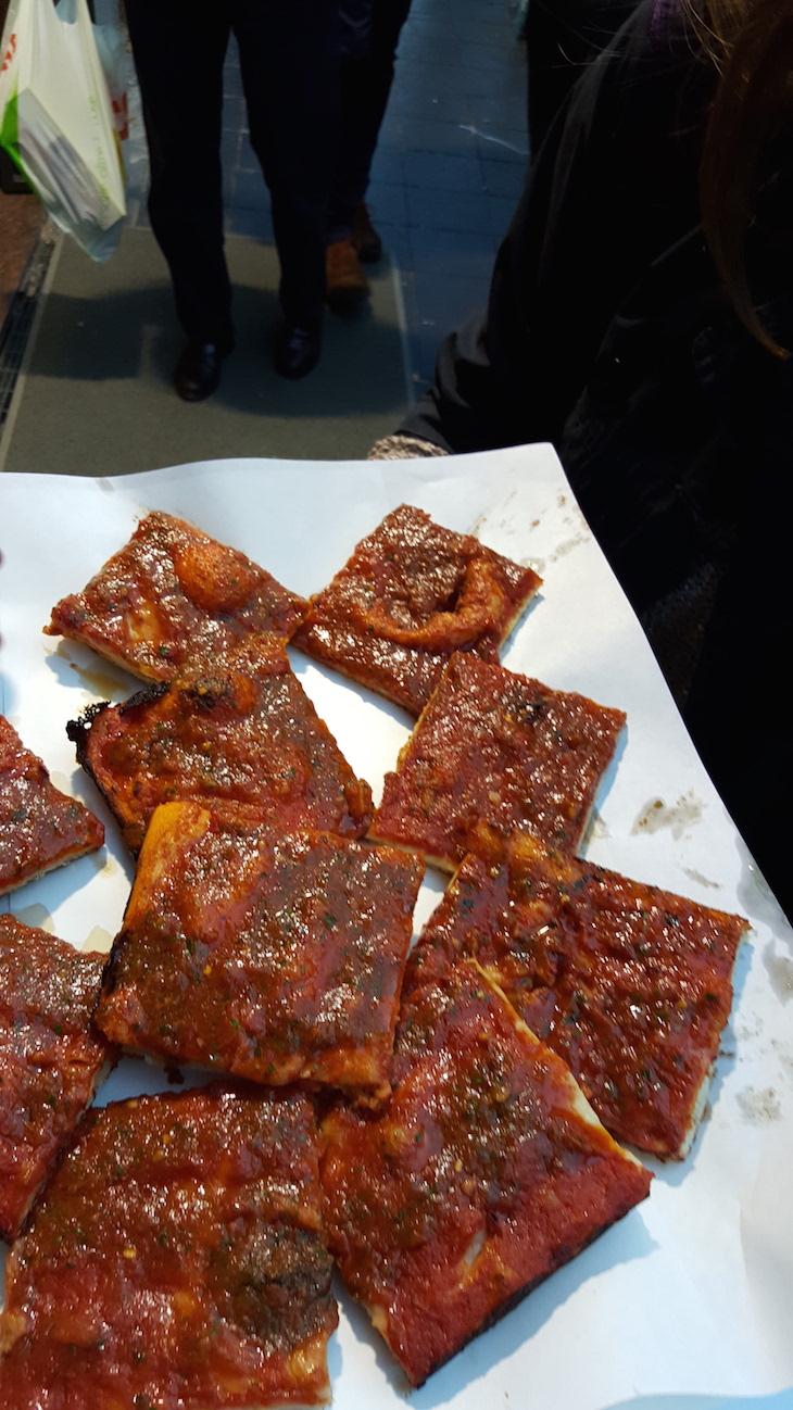 Pizza marinara no Supllì, Trastevere Food Tour,Roma © Viaje Comigo