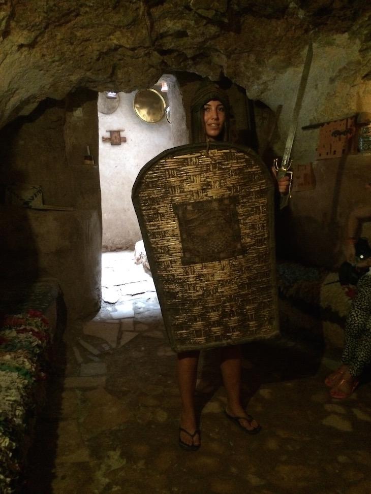 "Roupa de figurante ""Gladiador"", na Casa Berbere, Ben Haddou, Marrocos © Viaje Comigo"
