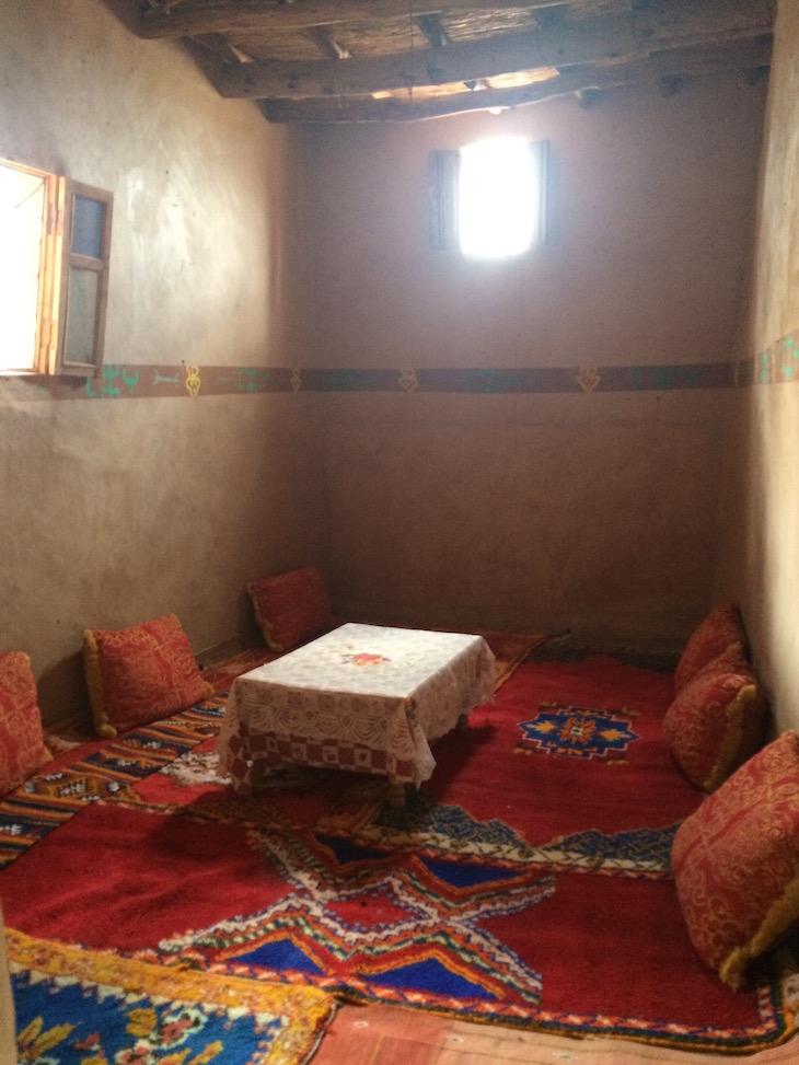 Sala da Casa Berbere, Ben Haddou, Marrocos © Viaje Comigo
