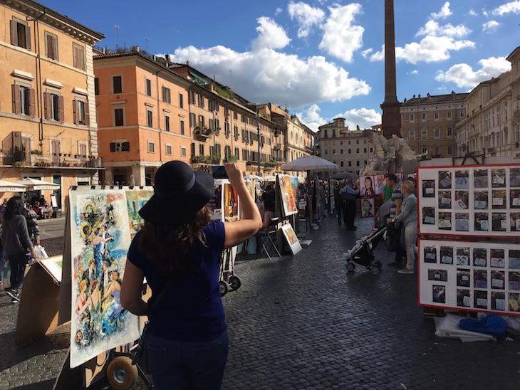 Na Piazza Navona, Roma © Viaje Comigo