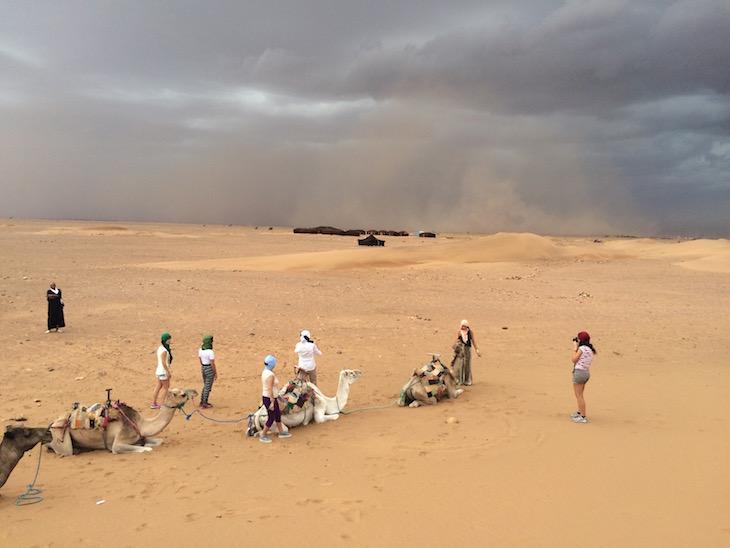 Tempestade de areia em Tinfou © Viaje Comigo