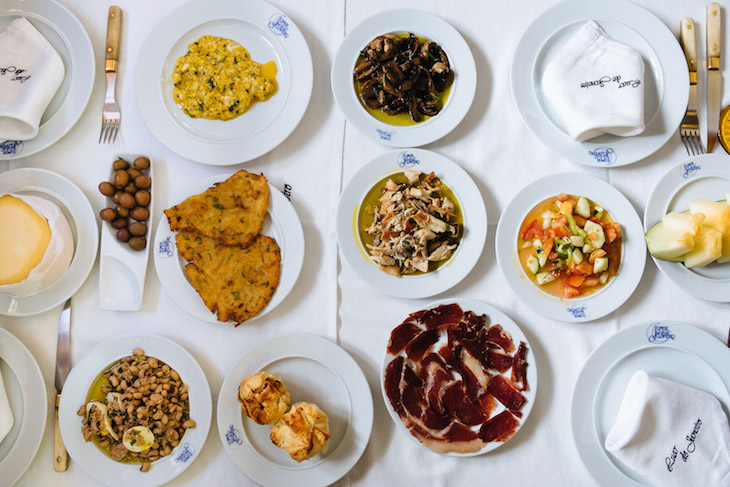 The Portuguese Travel Cookbook - Starters at a restaurant in Evora, Portugal, 2014