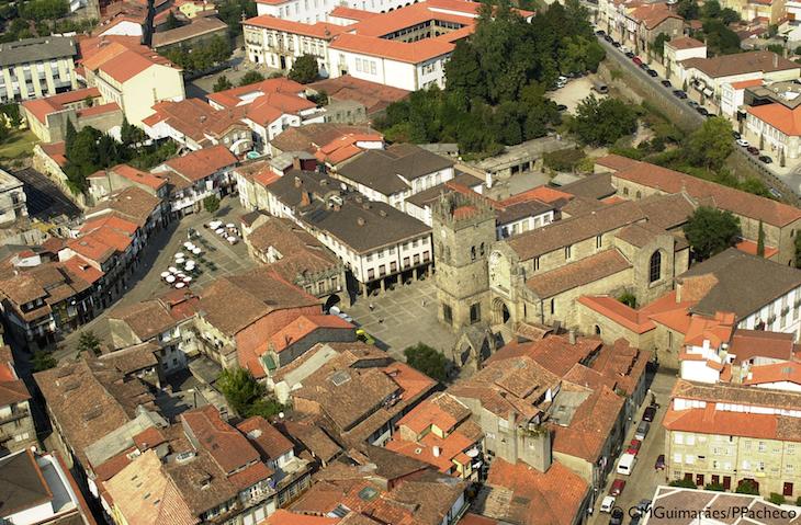 Vista área do Centro Histórico © Guimarães Turismo