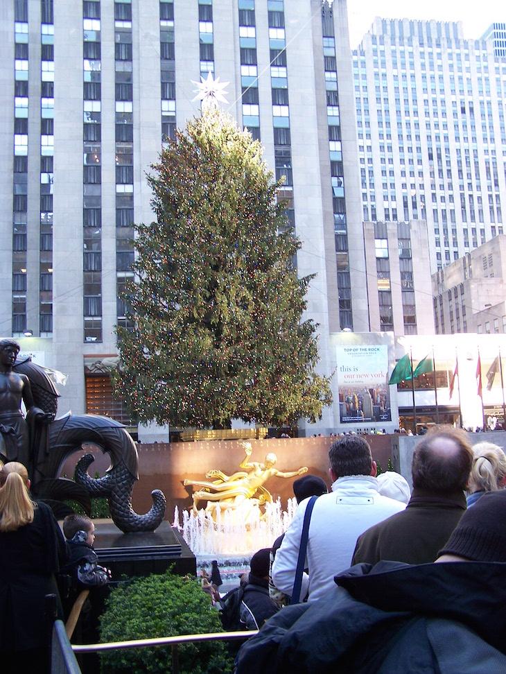 Árvore de Natal Rockefeller, em Nova Iorque © Viaje Comigo