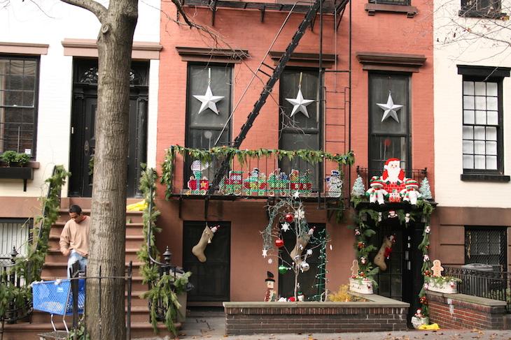Decorações de Natal nas casas, Nova Iorque © Viaje Comigo