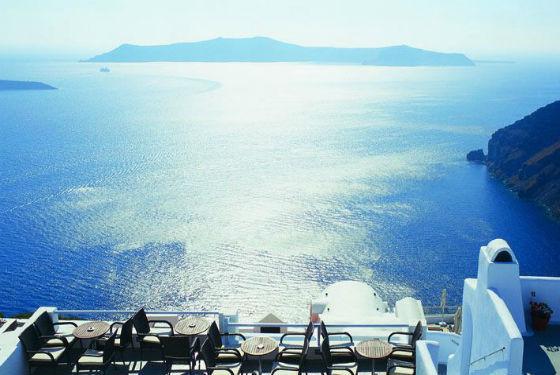 Grécia, ilha de Santorini - Visit Greece Direitos Reservados