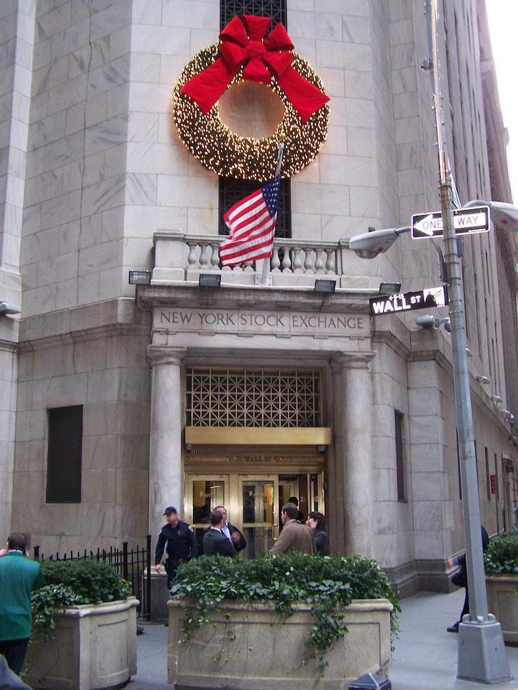 Decorações de Natal na NYSE, Nova Iorque © Viaje Comigo